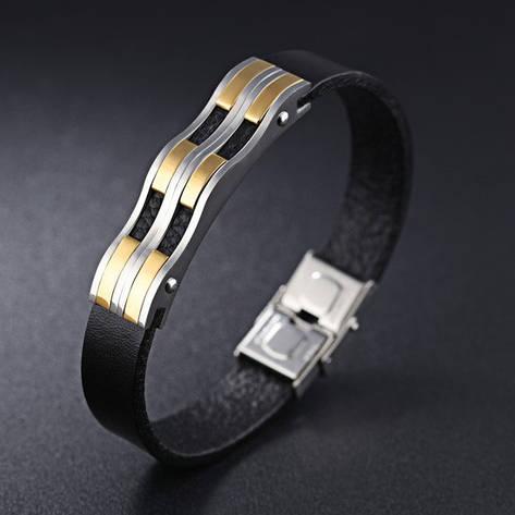 """Кожаный браслет """"Джуниор"""", фото 2"""