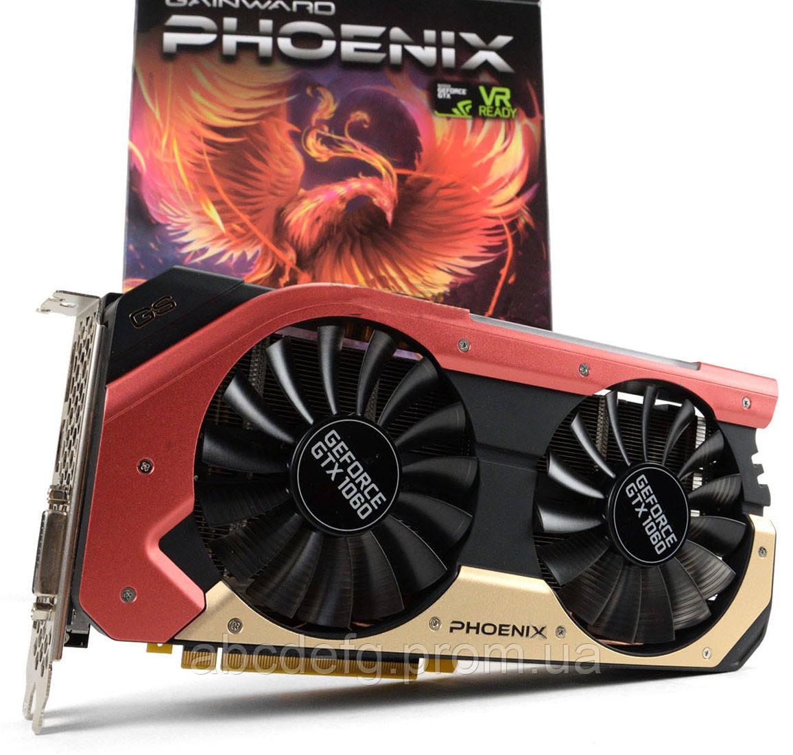 Видеокарта Gainward GeForce GTX 1060 Phoenix Golden Sample 6GB GDDR5 (DVI,  HDMI, 3 x DisplayPort)
