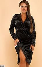 Платье вечернее нарядное бархатное размеры: 50-56, фото 3
