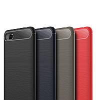 Чехол накладка Xiaomi Redmi 6A Carbon Rugged (Сяоми Ксиаоми Редми 6А)
