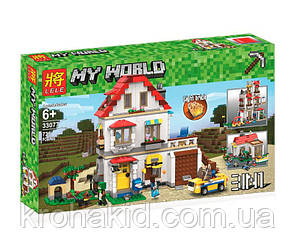 """Конструктор Lepin 33077 """"Элитный частный дом"""" (аналог Lego Майнкрафт, Minecraft), 738 деталей, фото 2"""