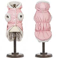 Жилет для собак Pet Fashion БОНЖУР M, длина спины 33-36 см, обхват груди 41-48 см (розовый и фиолет)