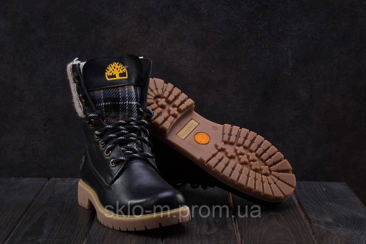 20017f51 Ботинки Best Vak БЖ 35-01 (Timberland) (зима, женские, кожа, черный ...
