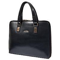 """Мужская кожаная сумка-портфель для ноутбука 15"""" HT 1816-1 черная (36,5х28х5,5 см)"""