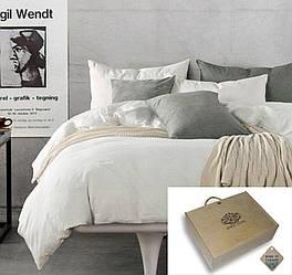 Комплект постільної білизни Komfort з Льону ПЕРЛИ Євро
