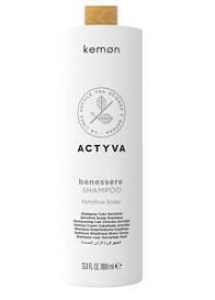 Шампунь для чувствительной кожи головы Kemon Actyva Benessere Shampoo Sensitive Scalp 1000 ml