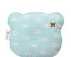 Ортопедическая подушка для новорожденных Мишка с наволочкой 21х25см