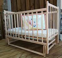 Детская деревянная кроватка Ласка Эко с маятником