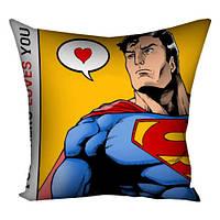 Подушка с принтом Super Man (3P_LP235)