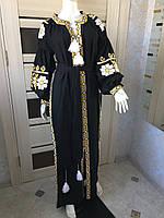 Вишита чорна сукня жіноча лляна індивідуальне пошиття