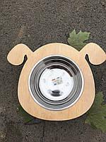 Кормушка, Миски на деревяной подставке  -  для собак
