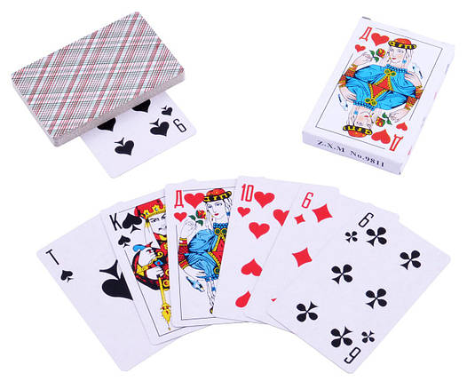 Карты игральные с пластиковым покрытием  (36 шт) Дама, фото 2