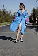 Вишита сукня жіноча лляна індивідуальне пошиття