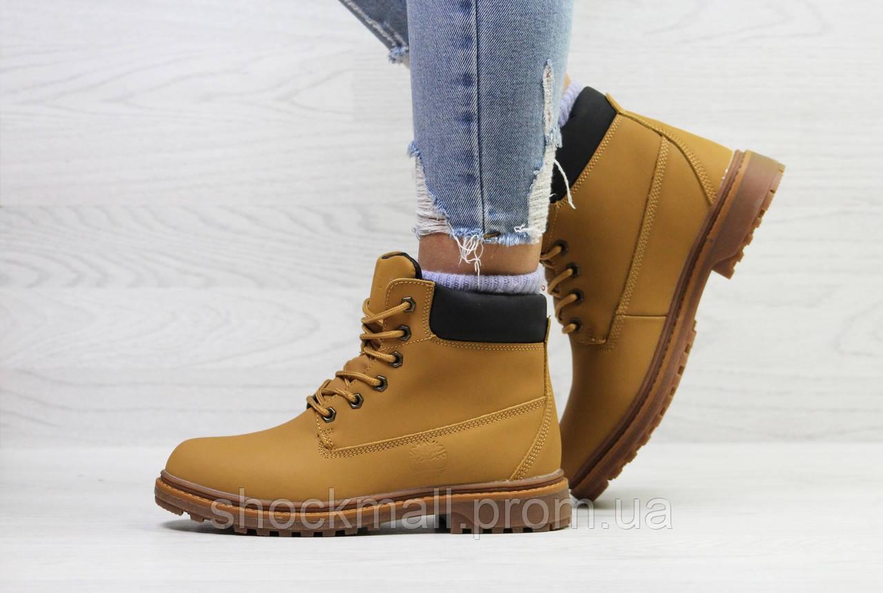 Рыжие ботинки Timberland зимние женские - Интернет магазин ShockMall в Киеве fc827f0b76f