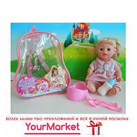 Кукла функц JF1701A/B (72шт/2) 2вида,пьет-писает,с бут,горшком,вилка,ложка в рюкзаке