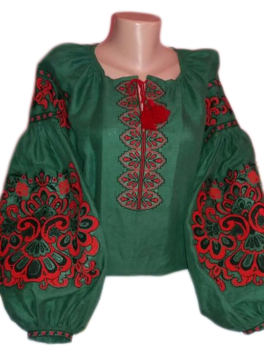 "Жіноча вишита сорочка (блузка) ""Жанін"" (Женская вышитая рубашка (блузка) ""Жанин"") BT-0082"