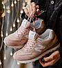 Женские кроссовки New Balance 574 Pink. Живое фото (Реплика ААА+)