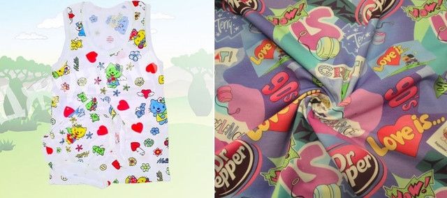 Ткань кулир и детское белье из кулирка