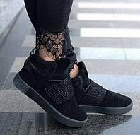 Кроссовки Adidas Tubular Invader Black. Живое фото. Топ качество! (Реплика ААА+)
