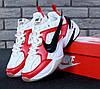 """Мужские кроссовки Nike M2K & """"Off White"""" red white. Живое фото. Топ реплика ААА+"""