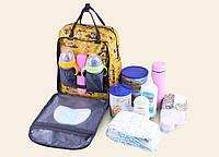 Рюкзак для мамы Попугай и фламинго ViViSECRET / Сумка для мам с креплением на коляску / Рюкзак - органайзер