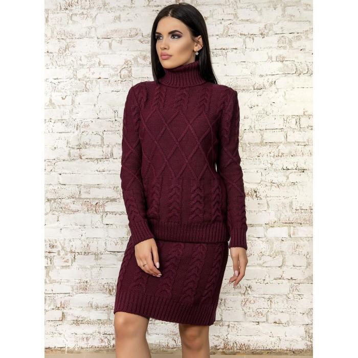 Костюм свитер с юбкой вязаный размер 46-48 (L - XL)