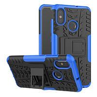 "Чехол Xiaomi Mi 8 6.21"" противоударный бампер синий"