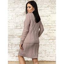 Костюм свитер с юбкой вязаный размер 46-48 (L - XL) , фото 3