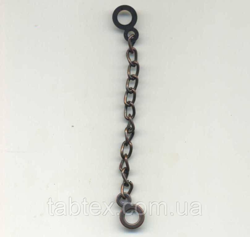 Вешалка-цепочка(чернённая медь 8,0см 100шт./уп)