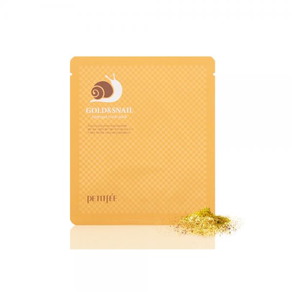 Гидрогелевая маска для лица с золотом и секретом улитки Gold & Snail Hydrogel Mask Pack Petitfee - 30г