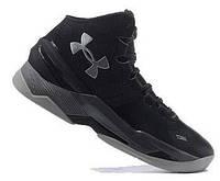 """Баскетбольные кроссовки Under Armour Curry 2 """"Triple Black"""" - """"Черные""""  (Копия ААА+)"""