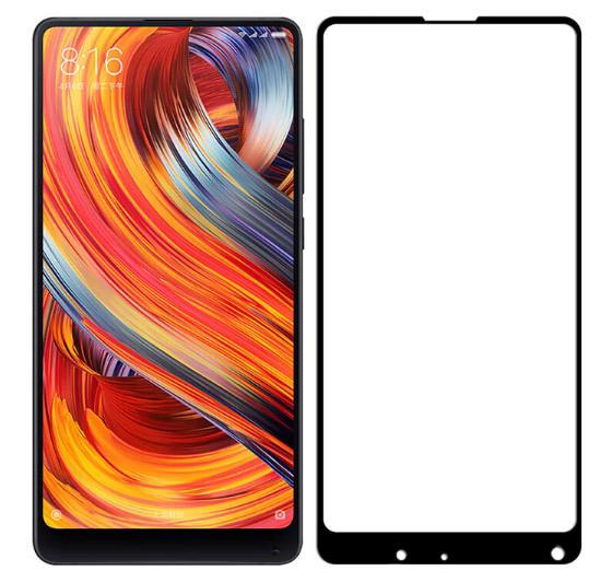 Full Glue захисне скло для Xiaomi Mi Mix 2s - Black