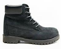 Зимові чоловічі черевики Timberland classic 6 inch Black без хутра (Репліка ААА+), фото 1