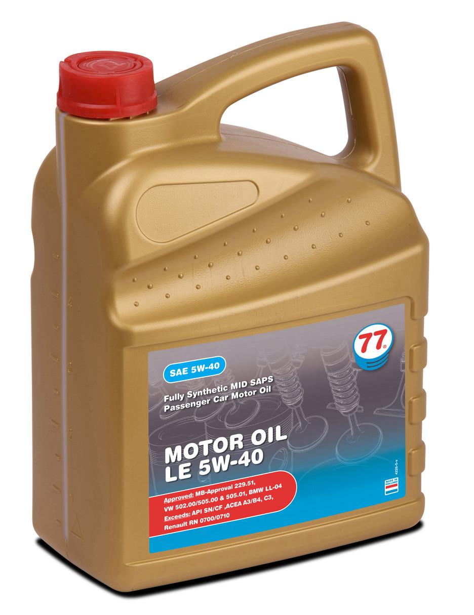 MOTOR OIL LE 5W-40 (кан. 4 л)