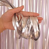 Занавес из фольги серебро сатин 1x3м