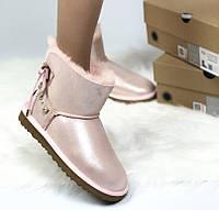 Натуральні уггі UGG Australia Mini Bailey Braid pink. Живе фото. Репліка ААА+, фото 1