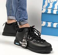 Зимние ботинки Native Fitzsimmons all black. Живое фото. Топ качество (Реплика ААА+)