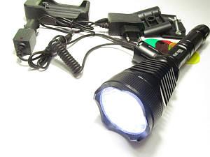 Тактический фонарь POLICE BL-Q2800L2 Т6 мощный BAILONG 158000W