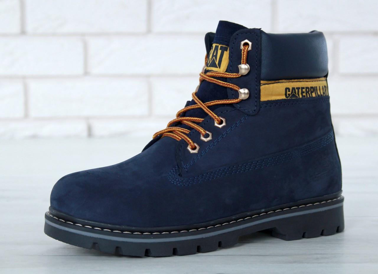 "Зимние ботинки на меху Caterpillar ""Blue"" (Синие)"