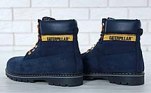 """Зимние ботинки на меху Caterpillar """"Blue"""" (Синие), фото 2"""