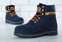 """Зимние ботинки на меху Caterpillar """"Blue"""" (Синие), фото 3"""