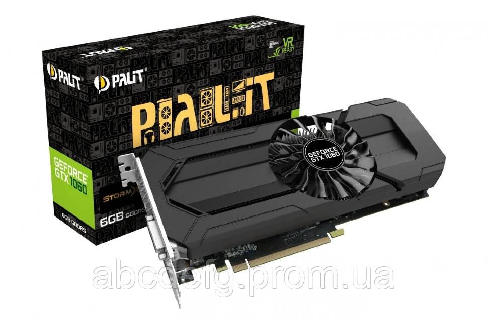 Видеокарта Palit GeForce GTX 1060 StormX 6GB GDDR5 (DVI, HDMI, 3 x  DisplayPort) (NE51060015J9-1061F)