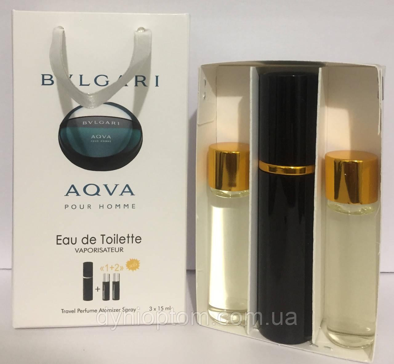 Мужской набор Bvlgari Aqua Men 45мл оптом