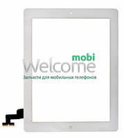 Сенсор iPad2 touchscreen+home button+flex white (оригинал) тач скрин для планшета