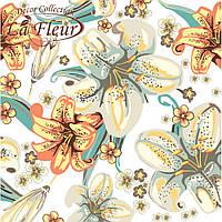 """Столовые салфетки ТМ """"La Fleur""""  Полотно с лилий"""