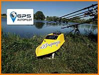 Прикормочный кораблик для рыбалки с эхолотом и GPS