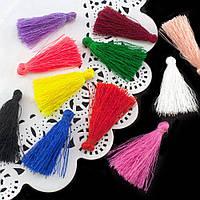 (45-50шт) Кисточки для рукоделия 4см (шелковые кисточки) Цена за 45-50шт Цвет - МИКС