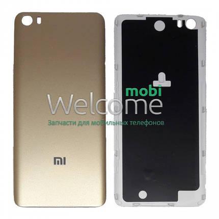 Задняя крышка Xiaomi Mi5 gold, сменная панель сяоми ксиоми, фото 2