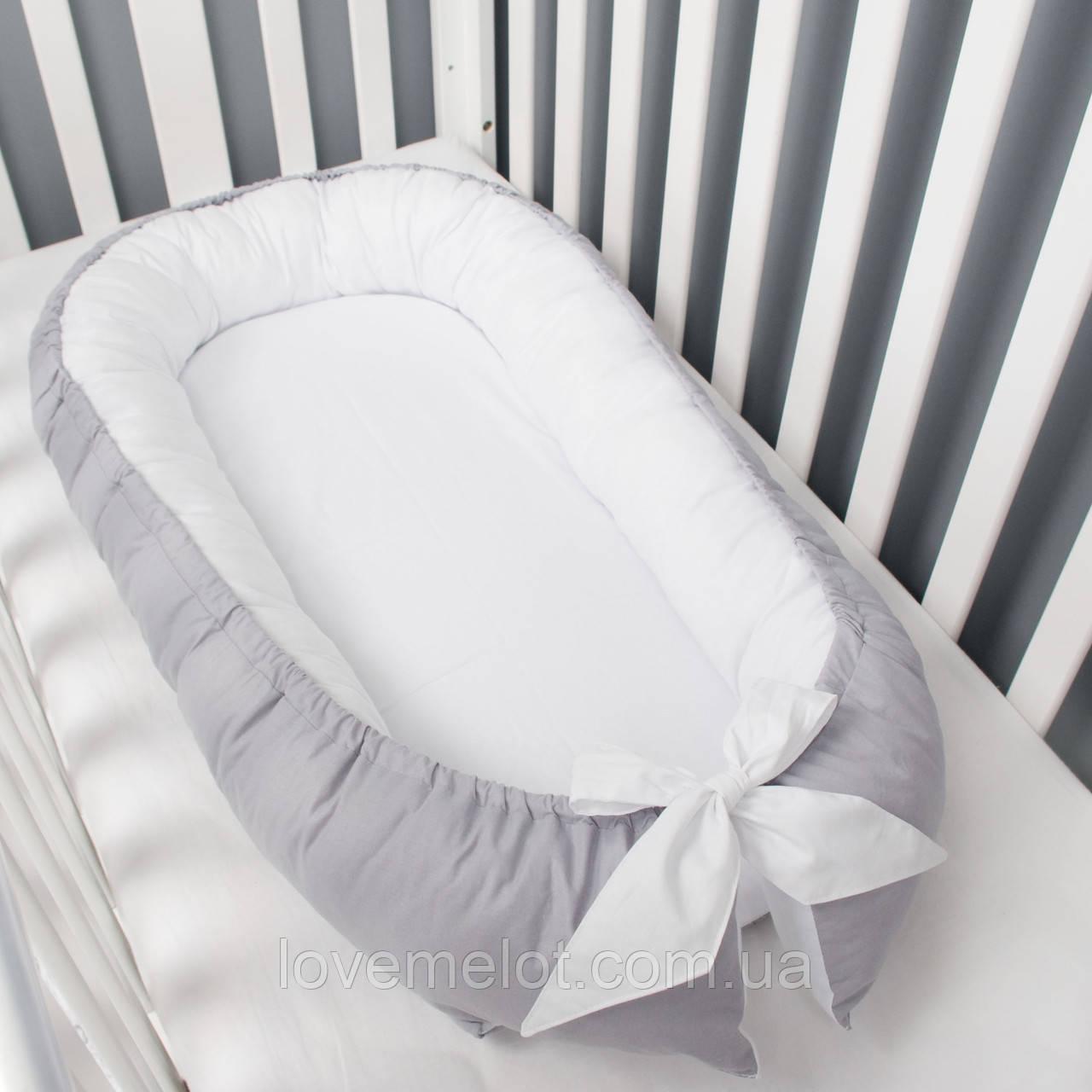 Гніздечко-кокон для дитини, позиціонер, люлька, babynest, переносна ліжечко