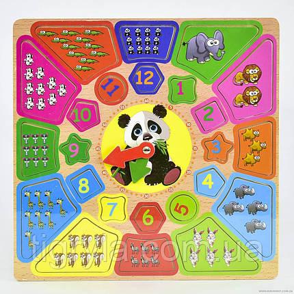 Деревянная игрушка Часы - логическая рамка с вкладышами, фото 2